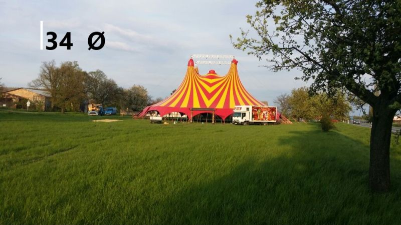 CIRCUS TENT AND COMPONENTS
